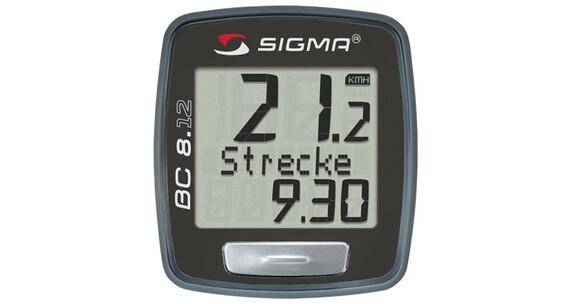SIGMA SPORT BC 8.12 Licznik rowerowy czarny